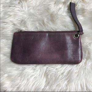 HOBO International wristlet violet purple clutch